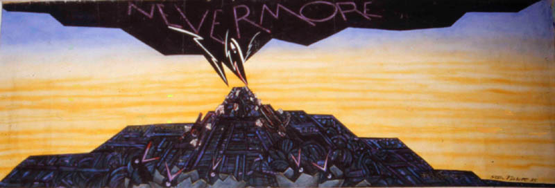 Nevermore 1985 eventually the World Towers collapse this. exhibited in NYC 2001 soon after 911